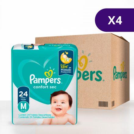 Pañales Pampers® Confort Sec™ - Caja de 4 paquetes Talla M