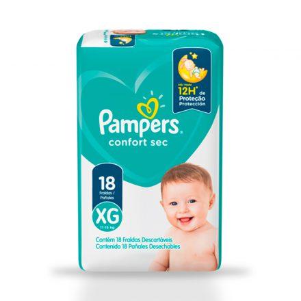 Pañales Pampers® Confort Sec™ - Paquete de 18 unidades Talla XG