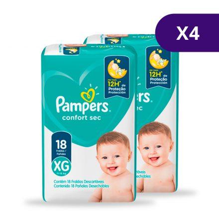Pañales Pampers® Confort Sec™ - Caja de 4 paquetes Talla XG
