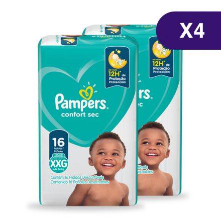 Pañales Pampers® Confort Sec™ - Caja de 4 paquetes Talla XXG