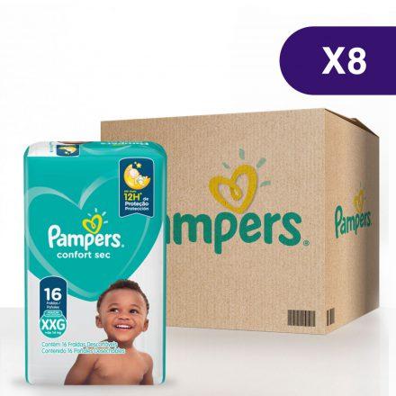 Pañales Pampers® Confort Sec™ - Caja de 8 paquetes Talla XXG