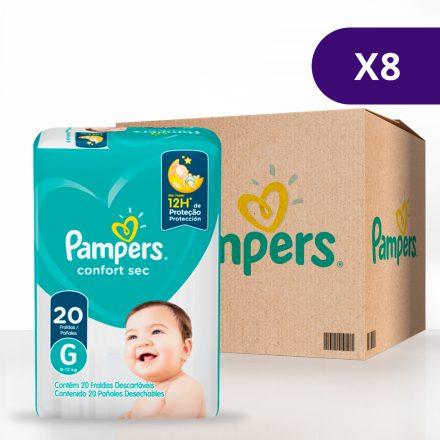 Pañales Pampers® Confort Sec™ - Caja de 8 paquetes Talla G
