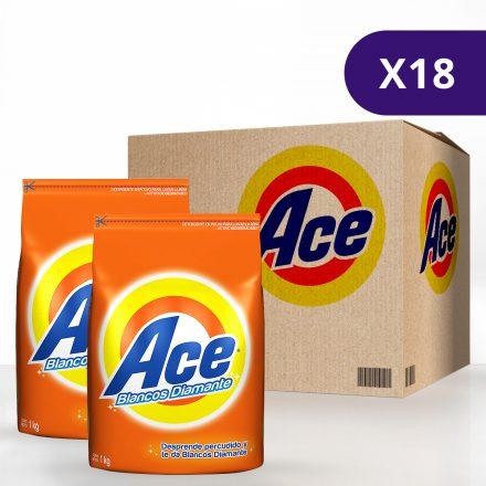 Detergente en Polvo ACE - Caja de 18 unidades de 1Kg