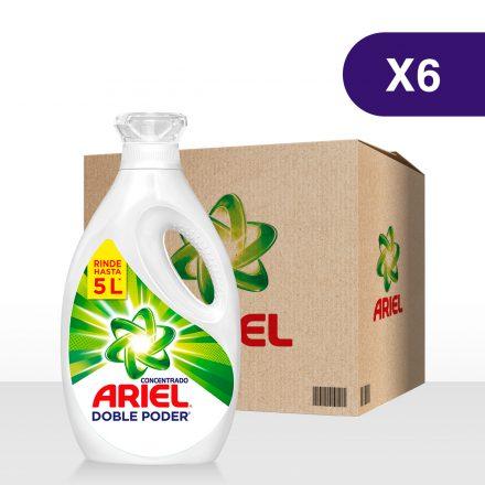 Ariel Doble Poder Concentrado - Caja de 6 unidades de 2Lts