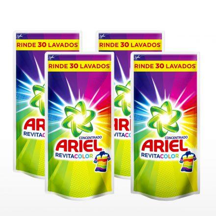 Ariel Líquido Revitacolor - 4 unidades de 1.2Lts