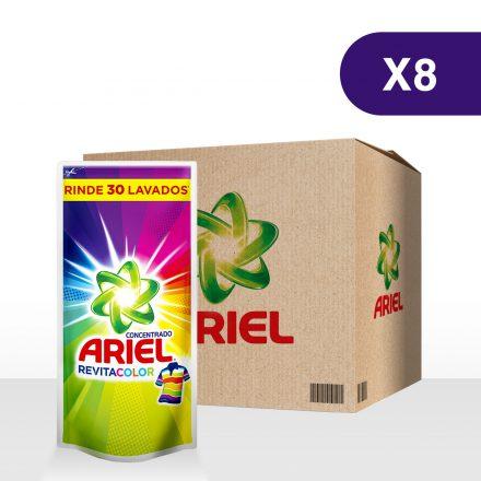 Ariel Líquido Revitacolor - Caja de 8 unidades de 1.2Lts