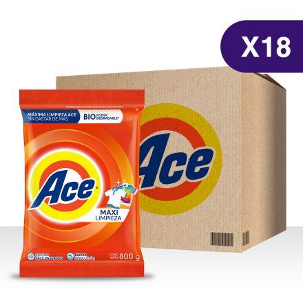 Detergente en Polvo ACE – Caja de 18 unidades de 800g