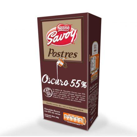 SAVOY® Postres Oscuro 55% - Caja de 4 unidades de 200g