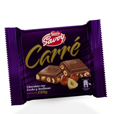 SAVOY® Carré Chocolate con Avellanas de 100g