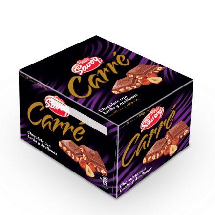 SAVOY® Carré Chocolate con Avellanas - Caja de 10 unidades de 100g