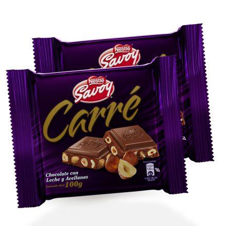 SAVOY® Carré Chocolate con Avellanas - 2 unidades de 100g