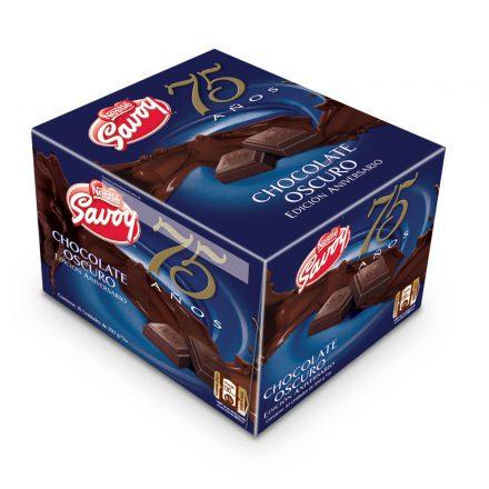SAVOY® 75 Aniversario Chocolate Oscuro - 10 unidades de 100g