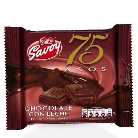 SAVOY® 75 Aniversario Chocolate con Leche de 100g