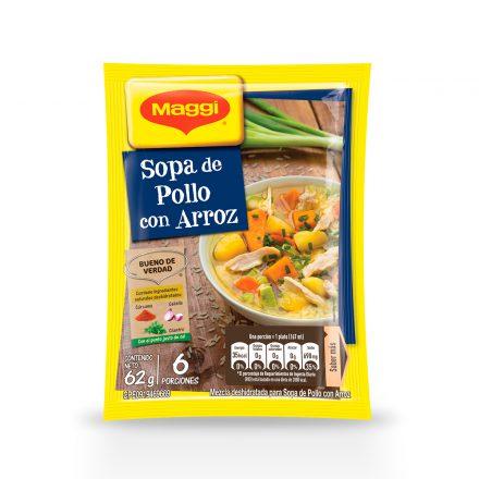 Sopa de Pollo con Arroz MAGGI® de 65g