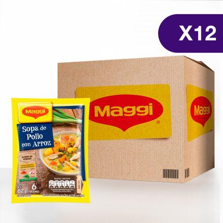 Sopa de Pollo con Arroz MAGGI® - Caja de 12 sobres de 65g