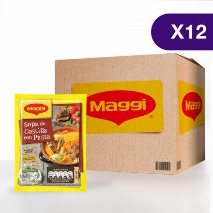 Sopa de Costilla con Pasta MAGGI® - Caja de 12 sobres de 50 g