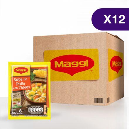 Sopa de Pollo con Fideos MAGGI® - Caja de 12 sobres de 62 g
