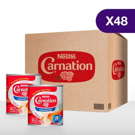 Leche Evaporada CARNATION® - Caja de 48 unidades de 395g