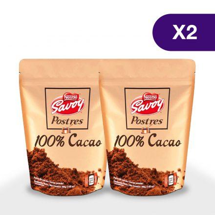 Cacao en Polvo SAVOY® - 2 unidades de 200g