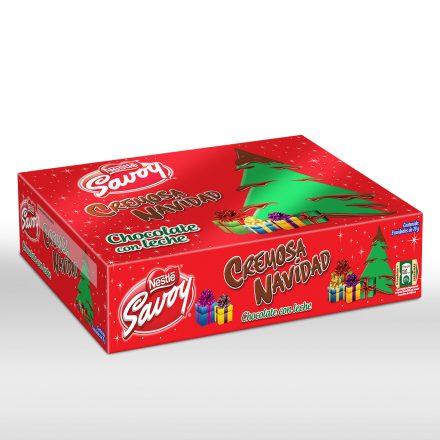 SAVOY® Chocolate con Leche® Cremosa Navidad - Caja de 9 unidades de 70g