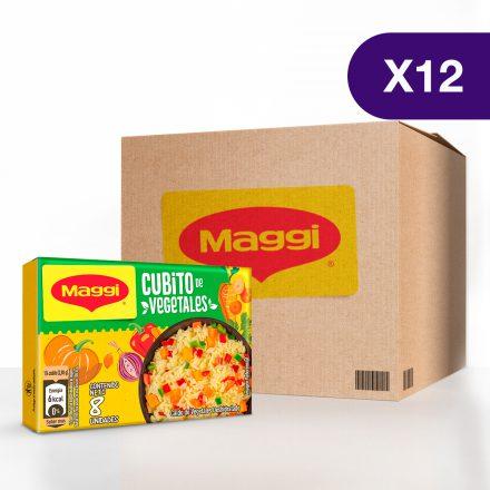 Cubito de Vegetales MAGGI® - Caja de 12 Tabletas de 8 unidades