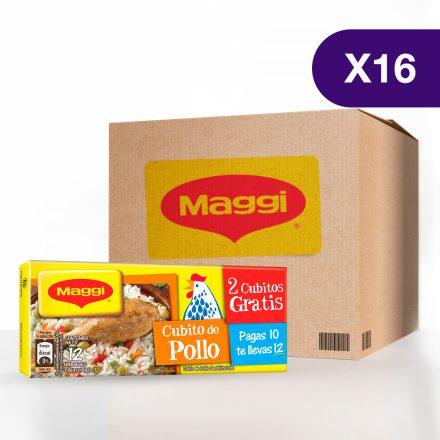 Cubito de Pollo MAGGI® - Caja de 16 Tabletas de 12 unidades