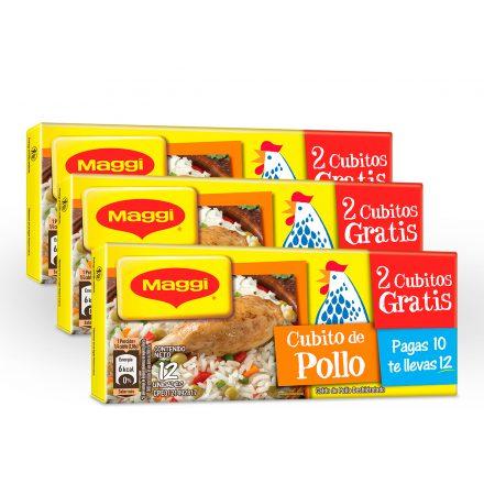 Cubito de Pollo MAGGI® - 3 Tabletas de 12 unidades