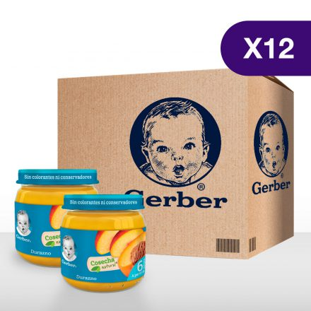 GERBER® Durazno - Caja de 12 unidades