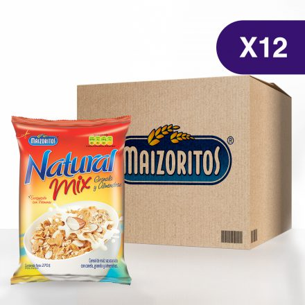 Maizoritos® Natural Mix Granola y Almendras - Caja de 12 unidades de 270g