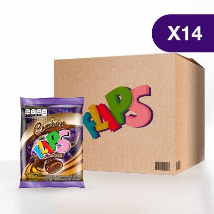 Flips® Chocofudge - Caja de 14 unidades de 50g