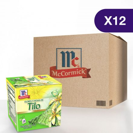 Té de Flores y Hojas de Tilo McCormick® - Caja de 12 Cajitas