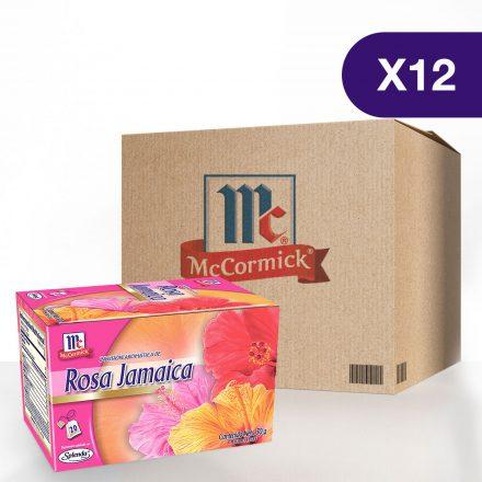 Infusión de Rosa Jamaica McCormick® - Caja de 12 Cajitas