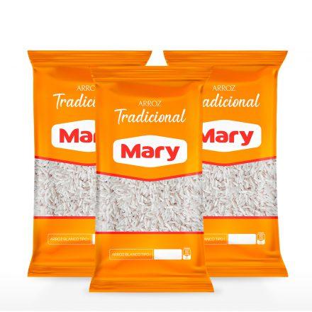 Arroz Mary Tradicional - 3 unidades de 1kg