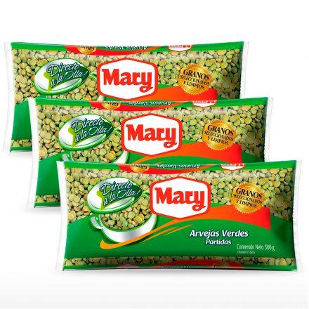 Arvejas Verdes Partidas Mary - 3 unidades de 500g