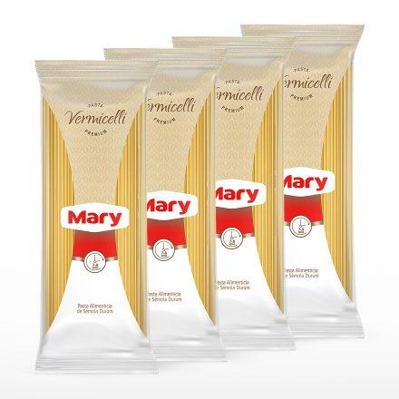 Pasta Premium Mary Vermicelli - 4 unidades de 500g