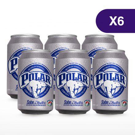Cerveza Polar® Pilsen Lata - 6 unidades de 250ml