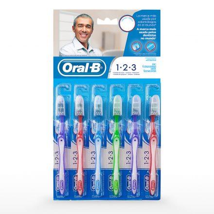 Cepillo Dental Oral-B® 1.2.3 - 6 unidades