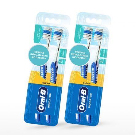 Cepillo Dental Oral-B® Pro Salud Indicator - 2 paquetes de 2 Pack
