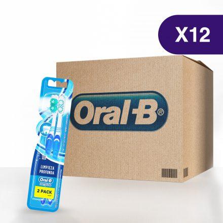 Cepillo Dental Oral-B® Limpieza Profunda Complete - Caja de 12 paquetes de 2 Pack