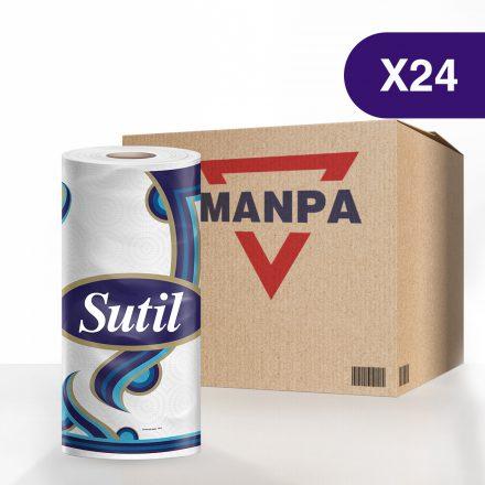 Toallas Sutil® Blanca - Caja de 24 rollos de 75 hojas