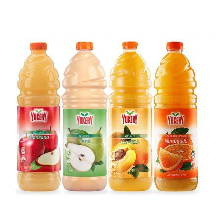 Combo Yukery - Manzana, Pera, Durazno y Naranjada de 1.5Ltrs
