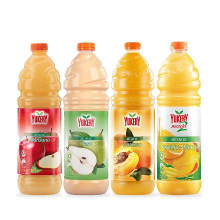 Combo Yukery - Manzana, Pera, Durazno y Nara-Mango de 1.5Ltrs