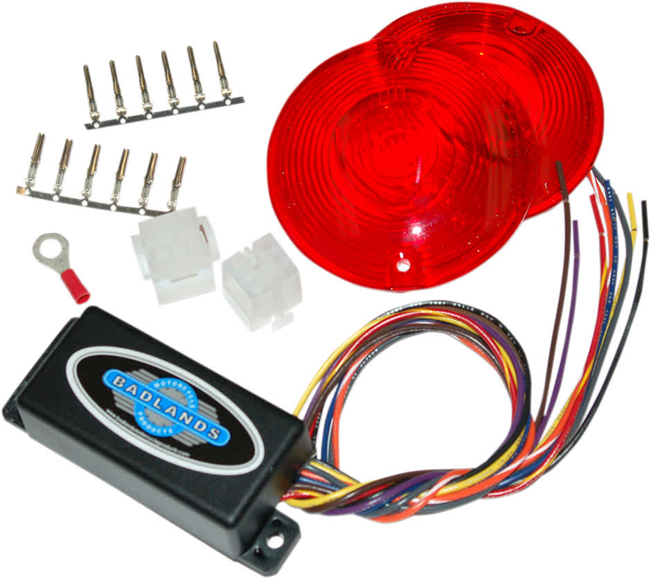 Badlands ILL-02-RL-A Plug-In Illuminator w/Red Lens86-96 FL w/AMP 6 Pin