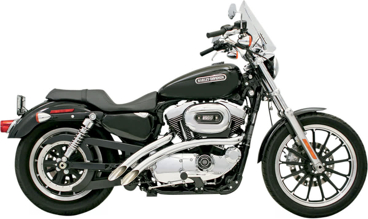 Bassani XL4-FF12 Radial Sweepers Exhaust System Chrome