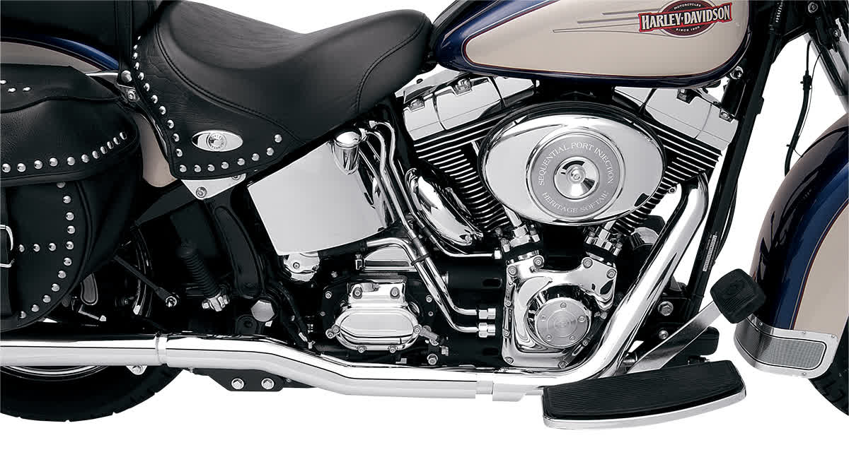 Bassani SFT-211 Power Curve True-Dual Crossover Header Pipes for Softails