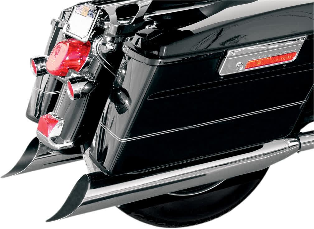 "Bassani FLH-529S 4"" Slip-On Mufflers with 2"" Standard Baffles"