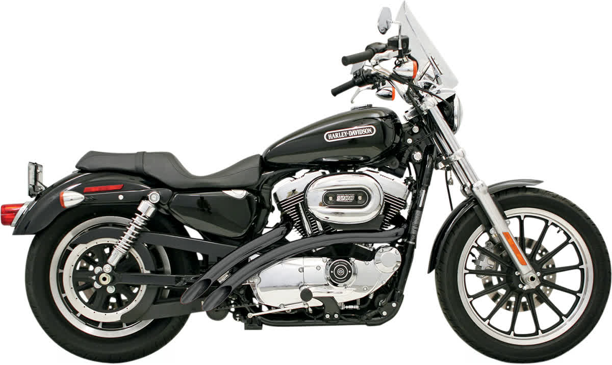 Bassani XL-FF12B Radial Sweepers Exhaust System Black Ceramic