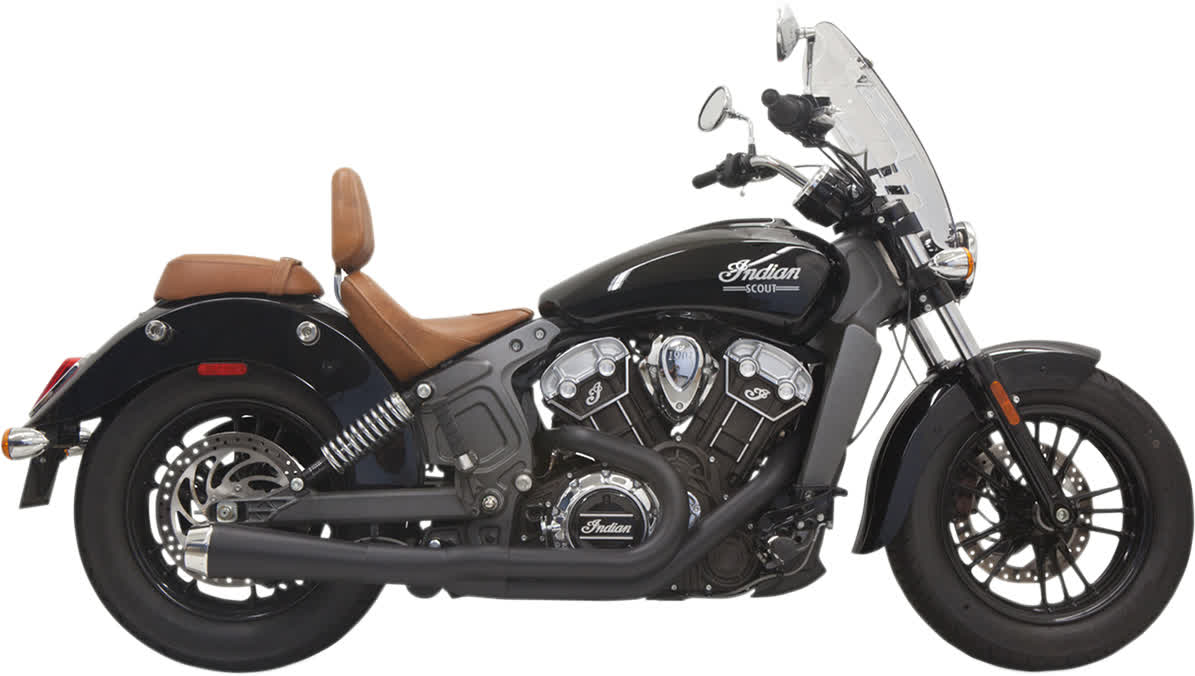 Bassani Road Rage 2-Into-1 Exhaust System Short Scout Black 1810-2353