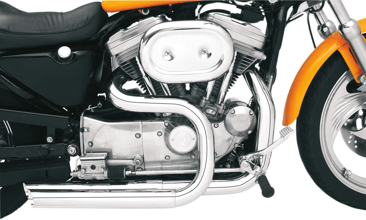 Bassani HS-XL-3215F Chrome Heat Shields for Pro-Street Systems