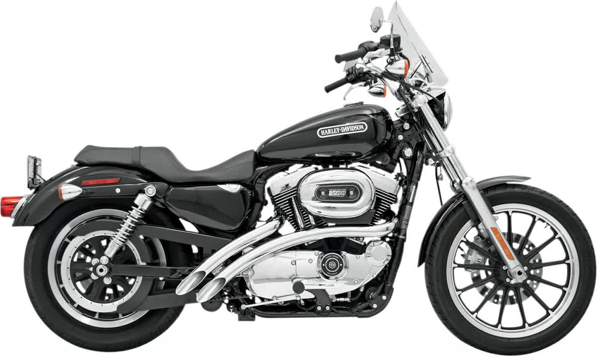 Bassani XL-FF12 Radial Sweepers Exhaust System Chrome